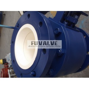 "8"" V port ceramic ball valve"