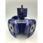3-way ceramic ball valve