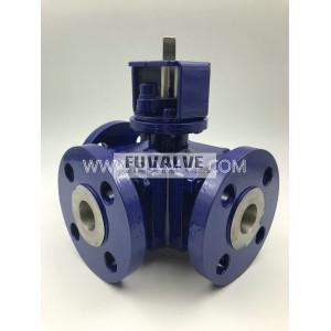 3-way ceramic ball valve