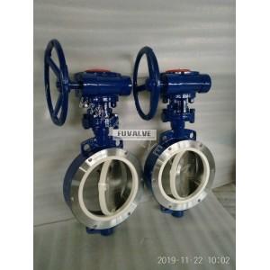 DN350 Ceramic butterfly valve