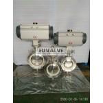 Pneumatic ceramic butterfly valve