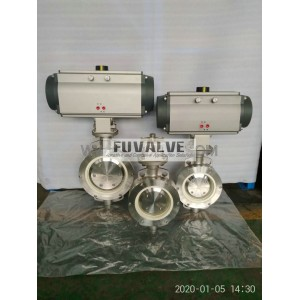 Pneumatic ceramic butterfly valve