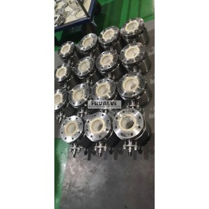 Ceramic ball valve for carbon conveying application in steel mill
