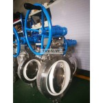 Full lined ceramic butterfly valve for Nickel slurry
