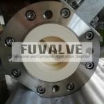 Top qulity ceramic lined V-port ball valve