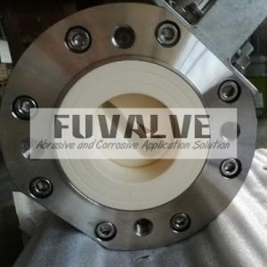 Top quality ceramic lined V-port ball valve