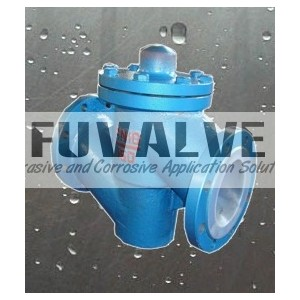 FEP lined lift type check valve