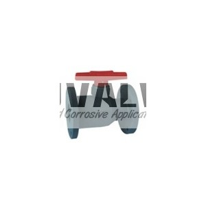 Integral plastic ball valve