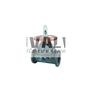 Integral plastic diaphragm valve