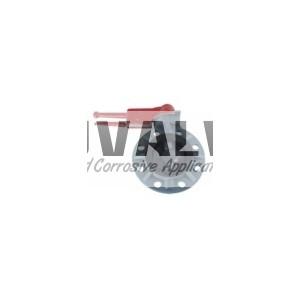 Integral plastic butterfly valve