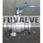 2 pcs Cast Steel Floating Ball Valve
