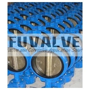 Wafer type cast iron butterfly valve