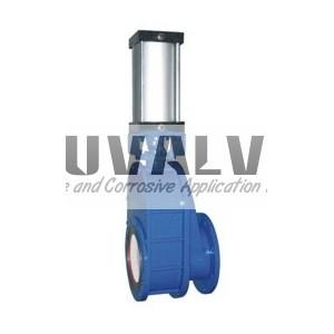 Double damper plate ceramics feeding valve