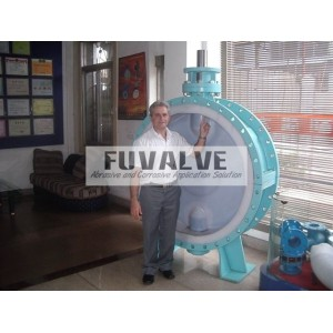 DN1800 FEP Lined Butterfly Valve