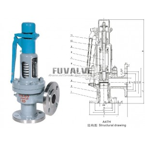 Low lift safety valve with a wrench spring
